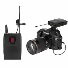 DSLR Wireless Lavalier Microphone Video Collar Mic for Camera iPhone Smartphone
