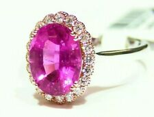 Vintage 3.99CT 14K Gold Natural Tourmaline Diamond Halo Engagement Ring Retro