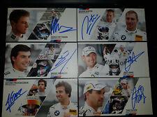DTM BMW Autogrammkarten Set signiert 2014