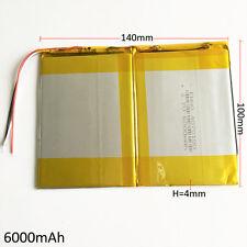 "3.7V 6000mAh Lipo Polymer Battery For Power Bank Tablet PC  PDA 11"" PAD 40140100"