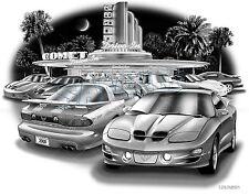 PONTIAC TRANS AM 1998,2000 WS6 MUSCLE CAR ART PRINT #6517