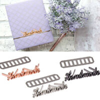 10pcs Metal DIY Bag Handmade Letter Tags Labels For Jeans Shoes Bags Decor Craft