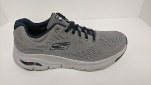 Skechers Arch Fit Walking Shoes, Gray, Men's 10.5 M