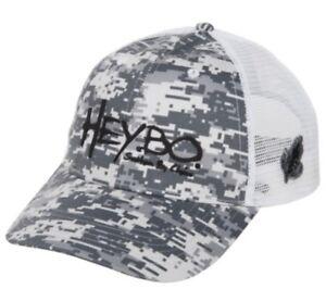 HEYBO Digital Camo Fly Fishing Mesh Backed Trucker Hat Mens One Size NWT