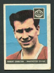 "A & BC GUM 1958 ""FOOTBALLERS - #3 BOBBY CHARLTON"" WITHOUT PLANET TRADE CARD"