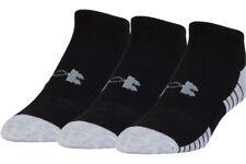 Under Armour Mens 2018 UA HeatGear Tech No Show Socks 3 Pack 29 off Black