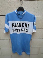 VINTAGE Maillot cycliste BIANCHI SONAUTO années 70 cycling jersey trikot maglia