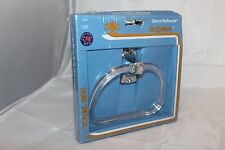 Budgeteer Decor Bathware Towel Ring Polished Chrome Clear Plastic New