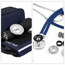 QUALITY Stethoscope + Sphygmomanometer NAVY KIT