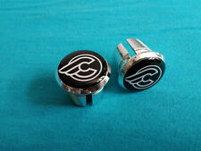 Cinelli Black Plugs Caps Tapones guidon bouchons lenker silver retro styl 3D