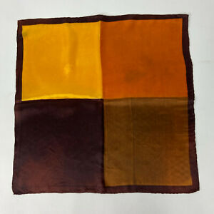 Vintage Scarf FALL COLORS Made in Japan ACETATE Color Block 19x18.5