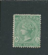 More details for bahamas 1882-98 1s green mm sg 44 cat £50