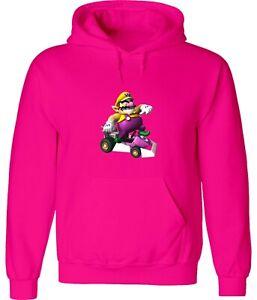 Gaming Super Mario Kart Wario Fun Racing Video Game Hoodie Sweatshirt Pullover