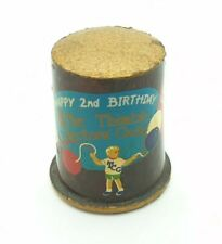 More details for thimble wooden collectors guild 1983-85 2nd birthday vintage