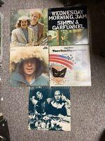 Lot of 5 SIMON & GARFUNKEL LP records S/T;Greatest Hits;Rhymin;Wenesday +1 - VG+