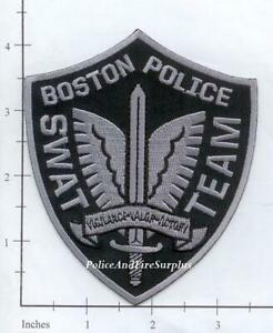 Massachusetts - Boston SWAT Team MA Police Dept Patch - Subdued