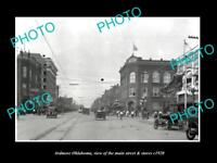 OLD LARGE HISTORIC PHOTO OF ARDMORE OKLAHOMA, THE MAIN STREET & STORES c1920