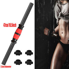 Dumbbell Bars Weight Lifting Handles Solid Gym Bar Fitness & 4 Spinlock Collars
