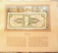 Most Treasured Banknotes Brazil 10 Cruzeiros 1967 UNC P-183b serie 3791A