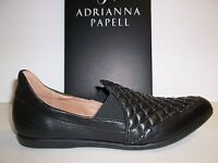 Adrianna Papell Size 6 M Linda Flats Black Leather Loafers New Womens Shoes