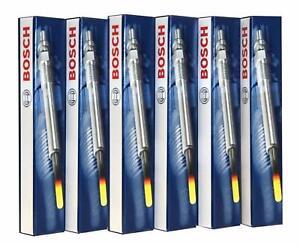6x New OEM BOSCH Diesel Glow Plugs 0250403008 Sprinter Jeep Mercedes-Benz E320