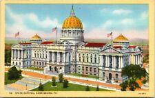 Postcard 52 State Capitol Harrisburg PA