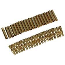 20 Pares de Conector de Bala Banana RC Metal Dorado Macho Hembra 4mm U8T3