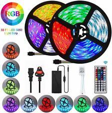 LED Strip Light, 10M 300 LEDs 5050 RGB Colour Changing Lighting Strip W/ Remote