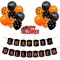 18Pcs/Set Halloween Pumpkin Foil Balloons DIY Party Balloons Bat Ghost Hall J5S6