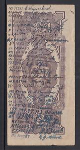 """Short Snorter"" Occupation banknote signed 31 members Australian 2/4th Pioneers"