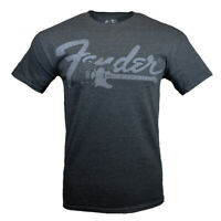 Fender Men's T-shirt Vintage Retro Look Musicians Guitar Rock Graphic Tee, GRAY