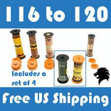 116 to 120 Film Spool Adapter Set/Kit (4pcs) For Antique Vintage Cameras Folding