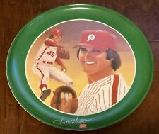 1980 7-Up 10' Hard Plastic Plate - Tug McGaw - Philadelphia Phillies