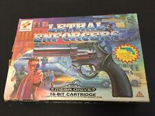 1993#SEGA MEGADRIVE GENESIS KONAMI LETHAL ENFORCERS BUDLE GUN# NEW IN BOX PAL