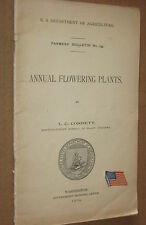 Annual Flowering Plants - Vintage 1904 US Dept of Agriculture Farmers Booklet