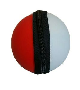 Pokemon Pokeball Zip-Up Carrying Case W/Keychain Latch FREE SHIPPING!!!