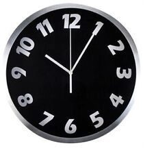 Reloj De Pared 30 cm Estuche de Aluminio Cepillado