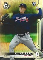 2019 Kolby Allard RC Topps Bowman Platinum #20 Atlanta Braves Rookie Card