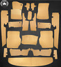 Carpet Set With Insulation For Mercedes Benz W116 Sel 19 Piece Velour, Beige
