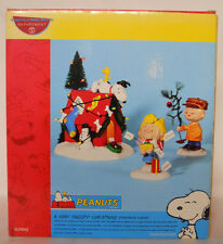2003 Department 56 Peanuts A Very Snoopy Christmas Figurine Set #5659092