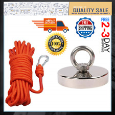 440lbs Pull Force Super Strong Fishing Magnets Heavy Duty Rare Earth Magnet N52