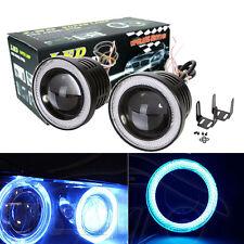 "2x 3"" Projector LED Fog Light w/ Ice Blue Angel Eyes Halo Ring DRL Car Auto 12V"