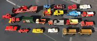 Matchbox Lesney Vintage Diecast vehicles job lot; x24 and two blue storage crate