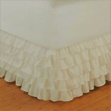 NEW 1PC SOLID PLAIN BED DRESSING RUFFLE SKIRT 20