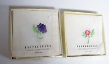 2 Boxes of 4 - POTTERY BARN Cotton Flower Napkins Unused