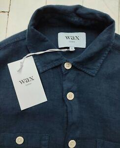*NEW* WAX London 100% Pure Linen Shirt - Size M - BNWT - cost £110 - SUPERB !!