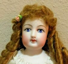"""ANTIQUE Bisque French Fashion doll 12"""" Cabinet Size"""
