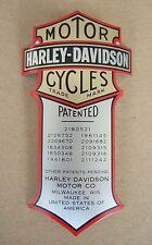 Harley-D. Aufkleber Emblem Bar & Shield Patented aluminium gewölbt 74x40mm