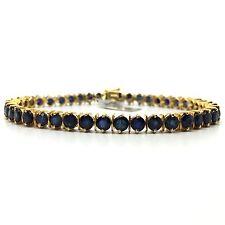 14K Yellow Gold Sapphire Bracelet 11.44 Grams