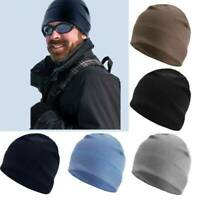 Men's Winter Warm Stretchy Fleece Beanie Hat Watch Cap Military Tactical Caps